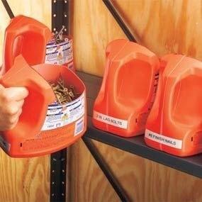 Reaproveite utensílios de plástico para armazenar pequenos objetos
