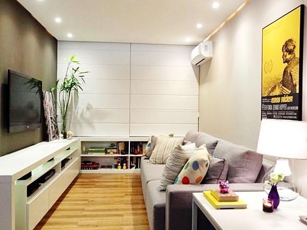 Objetos Decoracao Sala De Tv ~ Dicas para decorar salas estreitas em apartamentos