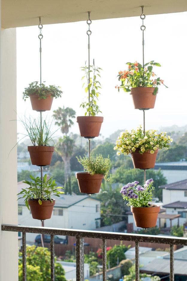 jardins ideias criativas : jardins ideias criativas:Hanging Plant Pots Idea