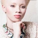 A modelo albina quis romper estereótipos no mundo da moda (Foto: Justin Dingwall)
