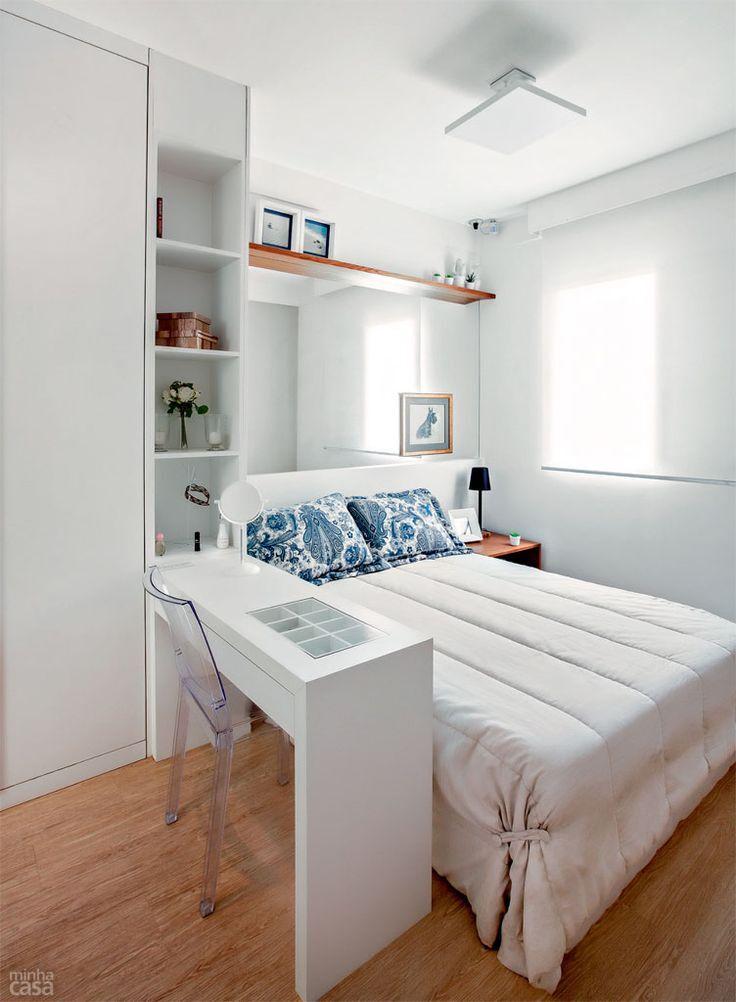 Inspire se 30 ideias de decora o para quartos pequenos - Como decorar un estudio pequeno ...