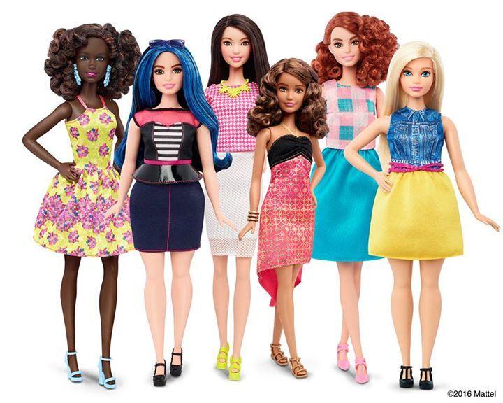 As novas versões de bonecas Barbie