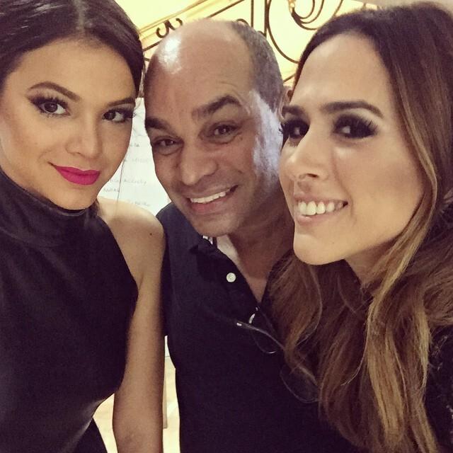 Kaká Moraes com Bruna Marquezine e Tatá Werneck