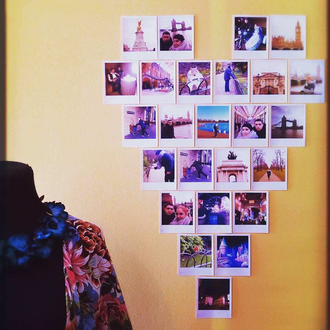 Organize as fotos em um formato divertido
