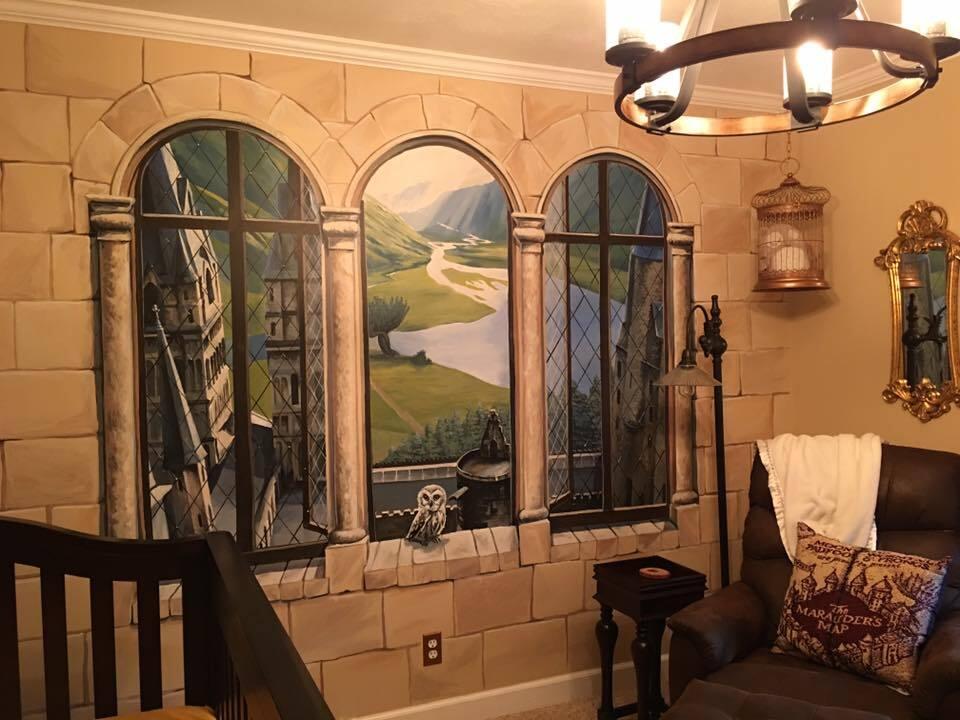 pais fazem quarto de beb com tema de harry potter. Black Bedroom Furniture Sets. Home Design Ideas