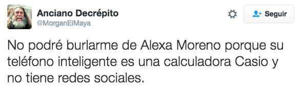 """""""Não posso zoar a Alexa Moreno porque o smartphone dela é uma calculadora Casio, e ela não tem perfil nas redes sociais"""""""