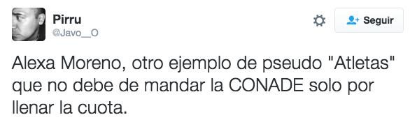 """""""Alexa Moreno, outro exemplo de pseudo """"atleta"""" mandado pela CONADE (Comissão Nacional de Cultura Física e Esporte do México) apenas para preencher as cotas"""""""