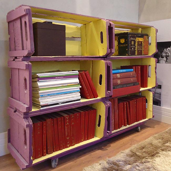 decorar cozinha velha:Caixotes de feira podem ser usados na decoração com estilo e bom