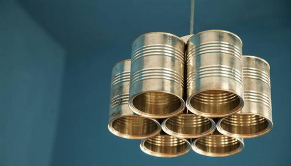 Resultado de imagem para reciclagem latas luminarias