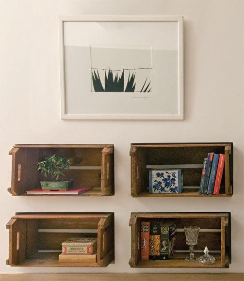 Caixotes de feira podem ser usados na decora u00e7 u00e3o com estilo e bom gosto; confira 50 ideias