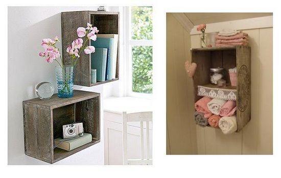 Caixotes de feira podem ser usados na decoração com estilo e bom gosto; confi -> Onde Comprar Armario De Banheiro Barato