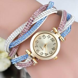 Hot-New-cor-da-moda-senhora-Rhinestone-Strap-pulseira-rel&oacute