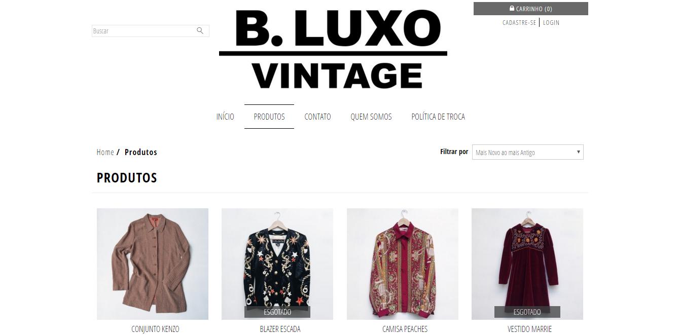 a56472ea4 Considerado um dos mais importantes brechós do Brasil, o B.Luxo Vintage  surgiu em 2006 e teve a sua primeira loja física em 2007. A maior parte dos  artigos ...